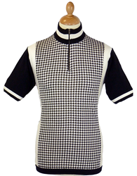 Roue MADCAP ENGLAND 60s Mod Dogtooth Cycling Top
