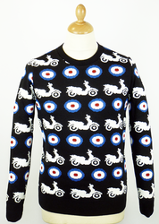 MADCAP ENGLAND RETRO MOD SCOOTER TARGET JUMPER