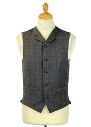 Redford MADCAP ENGLAND High Fasten Check Waistcoat