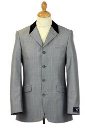 Fab 4 Button MADCAP Suit in Silver Mohair Tonic