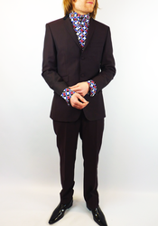 Tailored by Madcap Mod Velvet Collar Stripe Suit
