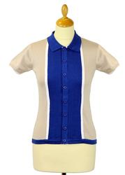 Madcap England Womens Mod Marriott Polo Cardigan