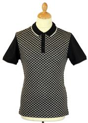 Woking MERC Retro Mod Jacquard Check Polo Shirt