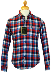 Blackburn MERC 60s Mod Check Brushed Cotton Shirt