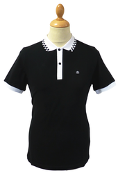 Nova MERC Retro Mod Revival Checker Trim Polo Top