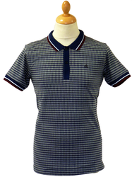 Carlow MERC Retro Indie Diamond Print Mod Polo Top