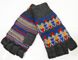 Edison MERC Retro 70s Indie Fingerless Gloves