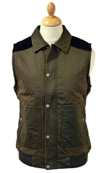 Hilbert MERC Retro Sixties Waxed Quilted Gilet