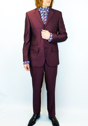 Gin MERC Retro 3 Button 60s Mod Tonic Suit (W)