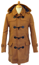 Bluefield MERC Retro 60s Mod Melton Duffle Coat