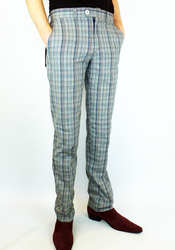Jake MERC Prince of Wales Check Retro Mod Trousers