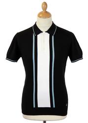 Bedford MERC Retro Mod Stripe Panel Knit Polo (B)