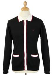 Newport MERC Retro 60s Mod Knitted Polo Cardigan B