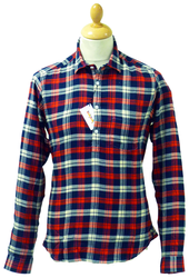 TukTuk Retro Sixties Check Mod Pullover Shirt