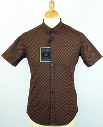 Jefferson MERC Retro Mod Op Art Short Collar Shirt