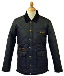 Lamar MERC Retro Mod Diamond Quilt Country Jacket