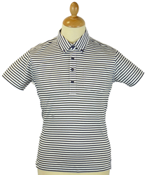 Hopping PETER WERTH Retro 60s All Stripe Mod Polo