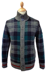 Burlington MERC W1 Retro 60s Mod Check Cardigan
