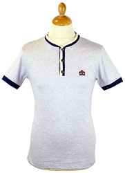 Warren MERC Retro Indie Mod Grandad Collar T-shirt