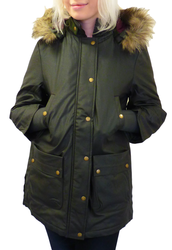 Audrey MERC Retro Mod Coated Herringbone Parka