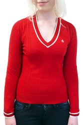 Katha MERC Retro Sixties Preppy Knit Mod Jumper