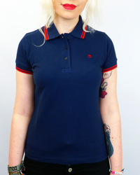 Rita MERC Retro 60s Mod Tipped Mod Polo Top (N)