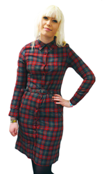 Daisy MERC Retro Indie Check Belted Mod Dress
