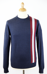 MERC RETRO MOD 60S RACING JUMPER NAVY ZAPPI