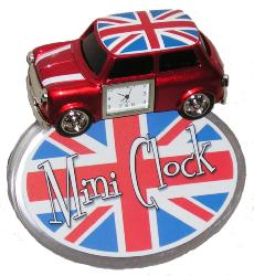 Retro Mod Sixties Mini Cooper Alarm Clock Indie