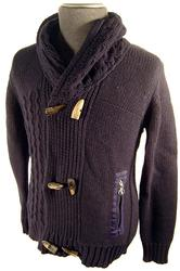 NANNY STATE RETRO VINTAGE INDIE SHAWL COLLAR CARDY