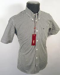 'Terry' - Sixties Mod MERC LONDON Gingham Shirt