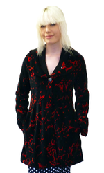 Oberon NOMADS Retro 60s Vintage Velvet Dress Coat