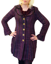 Hepburn NOMADS Retro 60s Handloom Tailored Coat P