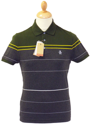 Cub Bub ORIGINAL PENGUIN Retro Indie Stripe Polo