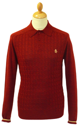 Mabley Cable ORIGINAL PENGUIN Mod Cable Knit Polo