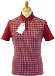 AP Plaid Jacquard ORIGINAL PENGUIN Retro Mod Polo