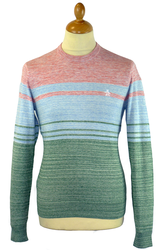 Space Dye Stripe ORIGINAL PENGUIN Retro 70s Jumper