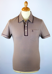 The Earl ORIGINAL PENGUIN Retro Mod Tipped Polo C