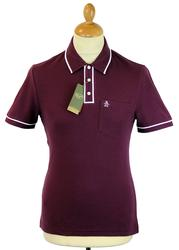 Earl ORIGINAL PENGUIN Retro Mod Tipped Polo Top IP