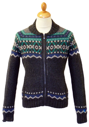 Shawl Neck ORIGINAL PENGUIN Fair Isle Cardigan DS