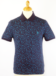 HF Floral ORIGINAL PENGUIN Retro Mod Op Art Polo