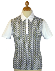 Fountain Head ORIGINAL PENGUIN Retro Op Art Polo