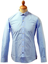 LAMBRETTA 60s Mod Penny Collar Button Down Shirt S
