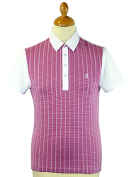 Plaid Jacquard ORIGINAL PENGUIN 60s Mod Polo Top