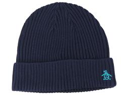 ORIGINAL PENGUIN Retro Indie Ribbed Beanie Hat DB