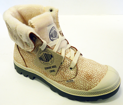 Camel Pilot PALLADIUM Baggy Leather S Retro Boots