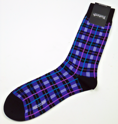 + PANTHERELLA Mod Window Pane Check Retro Socks