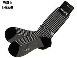 + Strand PANTHERELLA Mod Houndstooth Socks BLACK