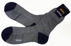 +PANTHERELLA Mod Herringbone Retro 60s Socks (G)