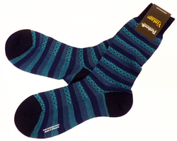 +PANTHERELLA Mod Fair Isle Retro Sixties Socks (N)